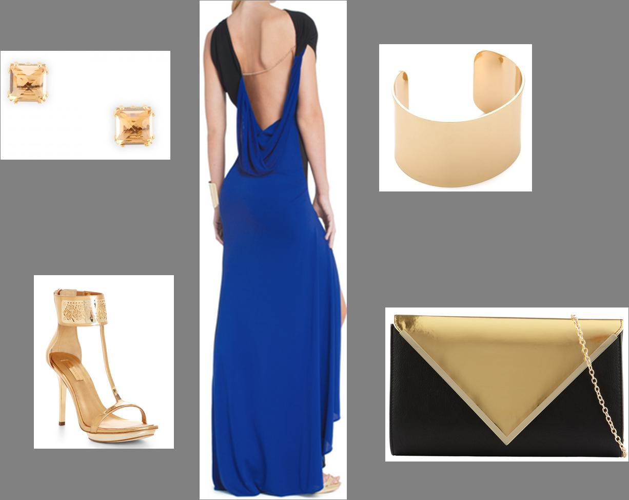 Bcbgeneration black and gold dress