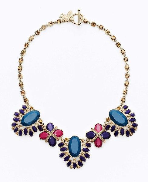 Vintage Brooch Statement Necklace, Ann Taylor