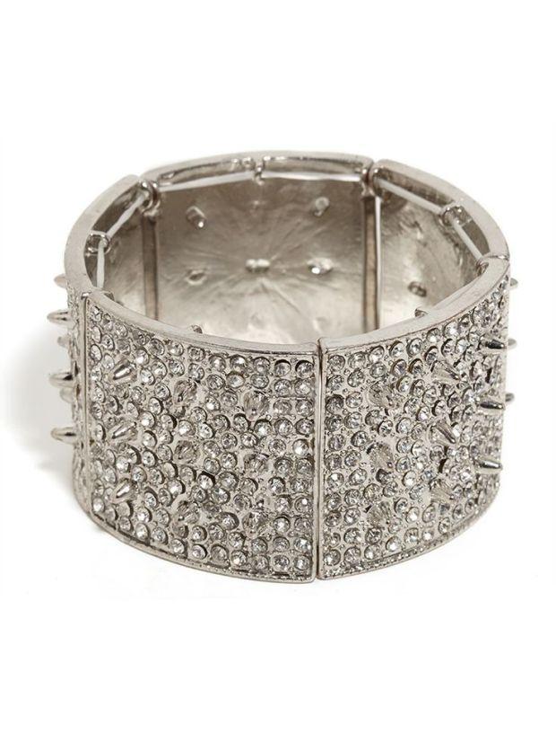 Silver Ice Urchin Cuff, Bauble Bar