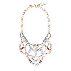 Crystal Lace Necklace, J. Crew