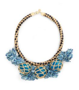 Crochet Bead and Tassel Necklace, Tory Burch