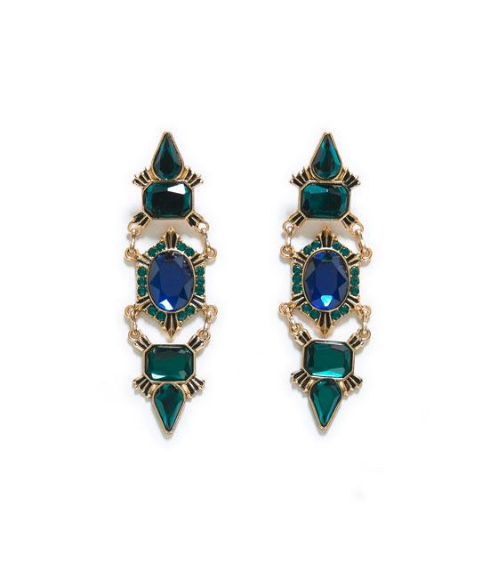 Crystal Earrings, Zara