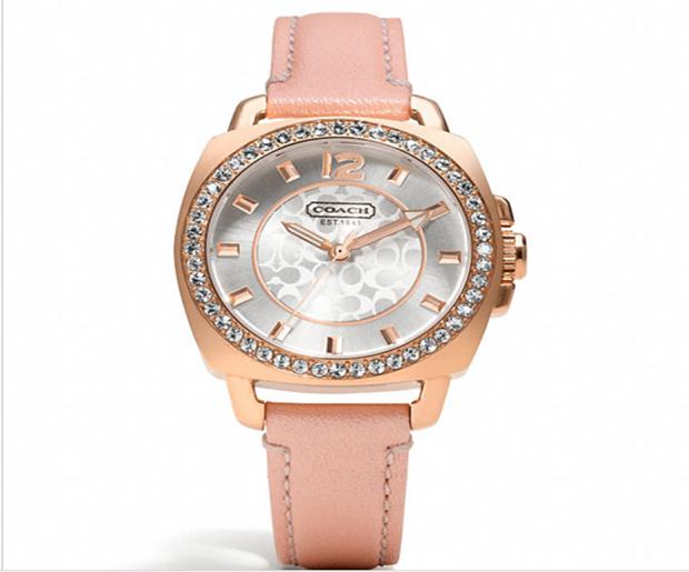 Coach Mini Boyfriend Breast Cancer Awareness Small Strap Watch